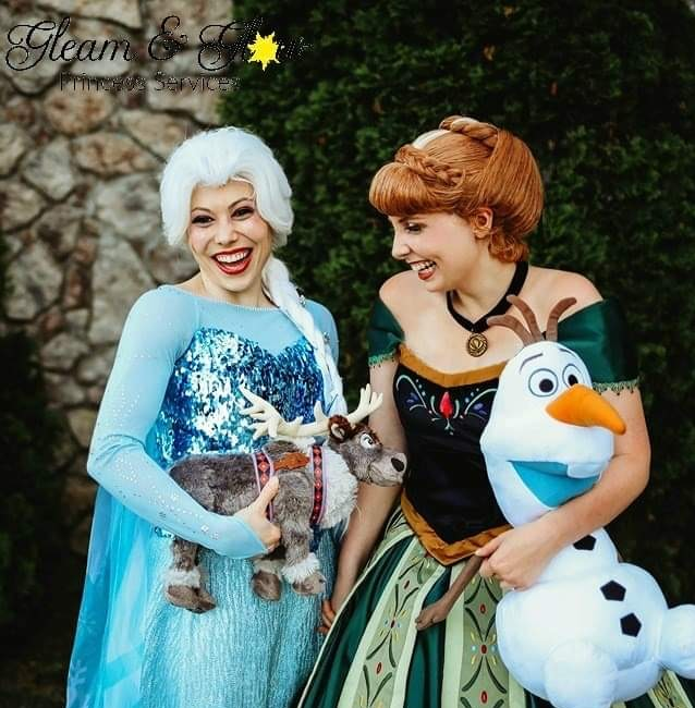 Snow Sisters Anna and Elsa